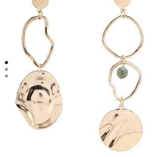 Brand New Gold Metallic Loop Earrings ('mango )
