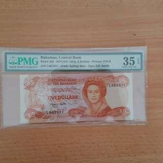 Bahamas banknote