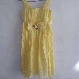 Dress kuning anak perempuan