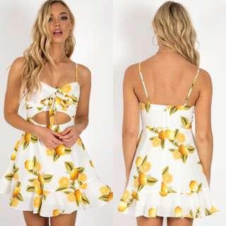 Tie it front Lemon dress. (Worn once)