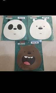 *INSTOCKS* We Bare Bears mouse pad