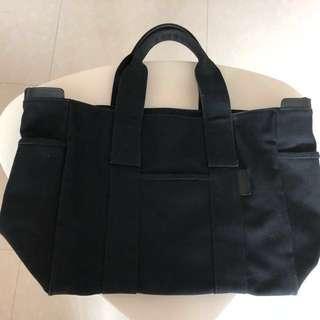 Agnes b 黑色大Tote Bag