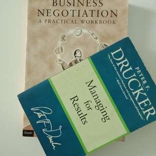 Peter Drucker & Business Negotiation Books