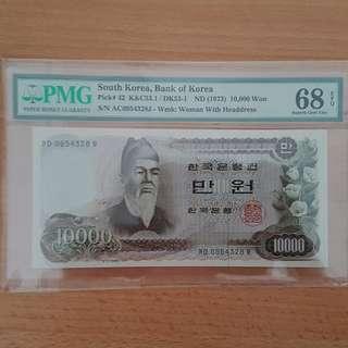 South korea banknote