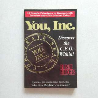 You, Inc by Burke Hedges