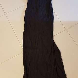 Black high-neck dress