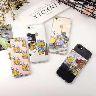 手機殼IPhone6/7/8/plus(沒有X) : 韓國屁桃小熊透明手機殼
