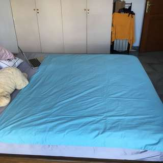 IKEA bed set in acqua (single)