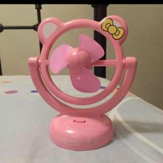 Pink portable plastic fan