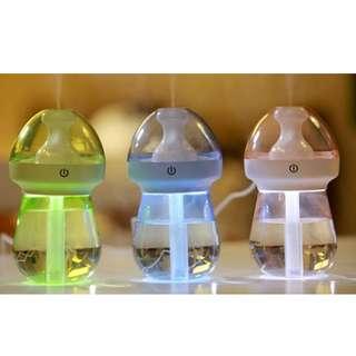 Humidifier car USB night light LED desktop office creative bedroom small humidifier bottle ( INSTOCK )