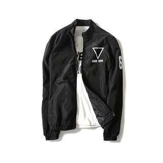 Infinity Bomber zip Jacket exo bts kpop jpop korean style trendy cool stylish fashionable Long black ulzzang