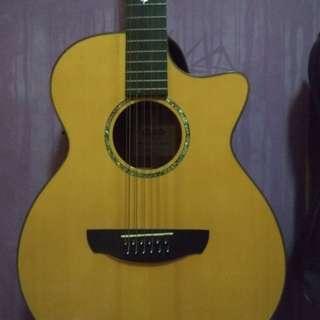 Jual gitar Genta 12 string / 12 senar (acoustic-electric)