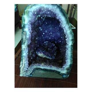 Amethyst Geode Crystal Energy Cave