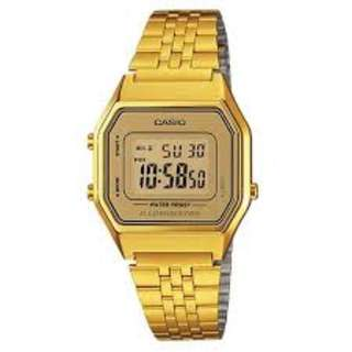 Casio Vintage LA680WGA-9D Gold Plated Watch for Women - COD FREE SHIPPING