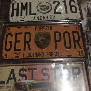 metal plate number design