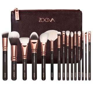 💄❤️ Zoeva 15 pieces rose gold brush brushes set with pouch