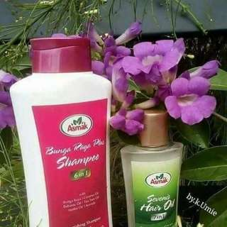 Shampoo bunga raya & Sevenis oil