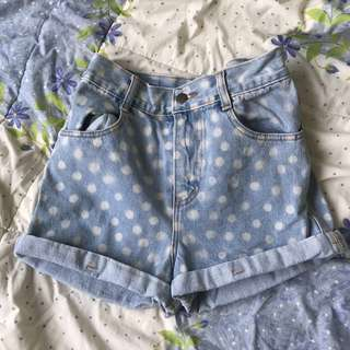 polka dots highwaist shorts