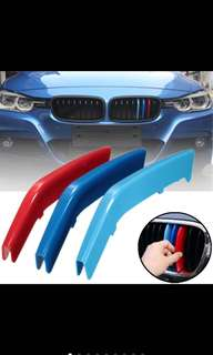 BMW 3-Series front grill M colours cover