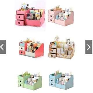 Sarria Creative Wooden Diy Make Up Collection Organizer