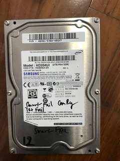 4x HDD 3TB, 2TB, 1.5 TB- with bad sector, smart fail