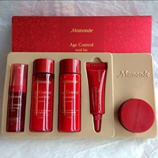😍TODAY ONLY !! CRAZY $5.95 SALE!!!❤️THE POWER OF RED CAMELLIA TO AGE PROOF YOUR SKIN NOW!!!❤️Mamonde Age Control 5 Piece Trial Kit