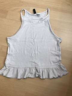 H&M cut in top with frills