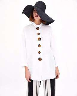 European and American style wild casual hit color button decoration loose long shirt