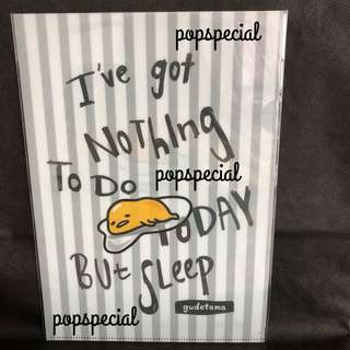 Gudetama A4 Clear File Folder But Sleep