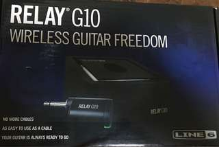 Relay G10 Wireless Guitar Freedom