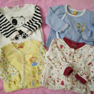 BUNDLE OF BABY BOY SLEEPSUITS