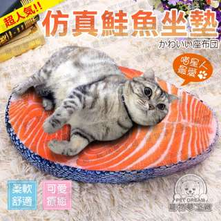 寵物窩墊 仿真鮭魚坐墊 座墊 靠墊 椅墊 貓床 狗床 寵物坐墊 寵物床 鮭魚坐墊 鮭魚切片 鮭魚軟墊 鮭魚抱枕 貓吃魚