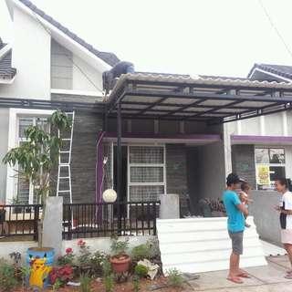 Kanopi garasi rumah mewah minimalis