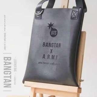BTS 飯製皮袋(全新未拆)