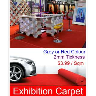 Exhibition Carpet - 2mm Thickness/ Wholesaler in Singapore