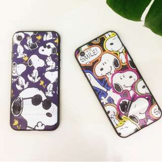 手機殼IPhone6/7/8/plus(沒有X) : Snoopy史努比內配支架軟殼
