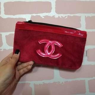 Chanel香水櫃贈品 化妝袋 筆袋 lv gucci dior
