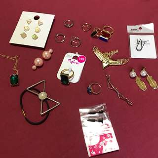 Fashion earrings, rings, necklace. CLEARANCE