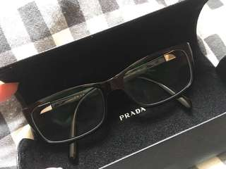 Prada square glasses眼鏡 [100%real,90% new,italy]包郵
