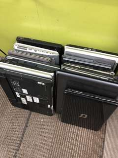 Old laptops - may or may not be working. Must take all. $10 per set