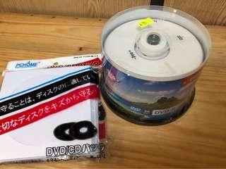 DVD-R x 50 discs + 信封一包