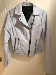 Selling for friend 🈹 faux leather baby blue miss Selfridge jacket