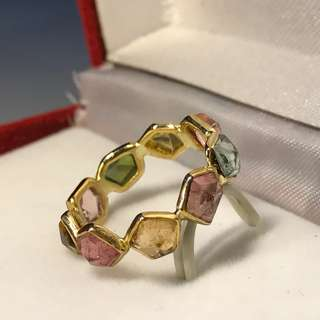 Multi Gemstone Band Ring 多色寶石戒指