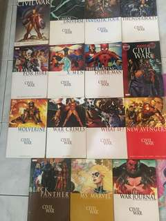Civil War Side Stories or Tie Ins Graphic Novels