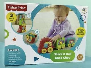Fisher Price Stack & Roll Choo Choo Train Blocks