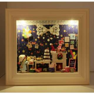(Do-It-Yourself) Wooden Wall Frame with LED Lights