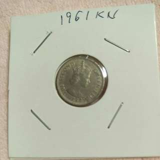 Malaya Borneo 5 cent 1961 KN