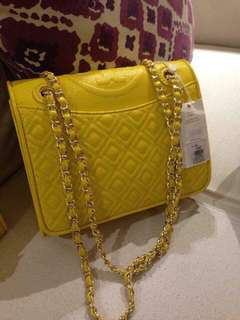 Authentic Tory Burch Leather Fleming Bag