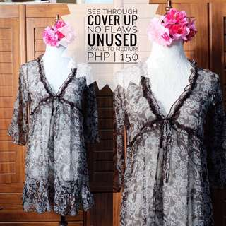 See Through Cover Up Top Preloved