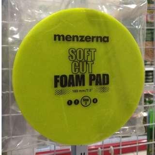 Menzerna Soft Cut Foam Pad 180mm Green